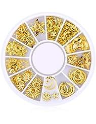 Ruiting 200 Stk 3D Mini Nagel Kunst Bolzen Aufkleber Glitter Metall Charme Nail Zubehör Modische DIY Nagel Schönheits Dekoration Sternenhimmel Series Beauty Misc