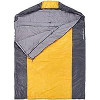 10T Doppel-Schlafsack SELAWIK DUO -5° 2 Personen XXXL Deckenschlafsack 215x150 Gelb Schwarz 150g/m²