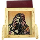 Ganga Craft House Rajasthani Art Painting Gemstone Pine Wood Mobile Stand