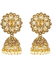 The Luxor Fancy Gold Plated Jhumkhi Earrings for Women