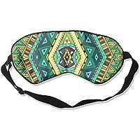 Sleep Eye Mask Green Decorative Pattern Lightweight Soft Blindfold Adjustable Head Strap Eyeshade Travel Eyepatch preisvergleich bei billige-tabletten.eu