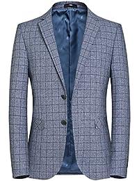 Giacca da uomo classica casual slim fit classica in lino con bottoni da uomo  · EUR 39 8eb6a01cee7
