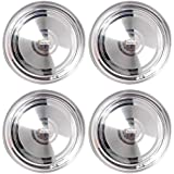 Prisha India Craft Stainless Steel Dinner Plates Thali, Dinnerware & Tableware | Set Of 4 Pieces |Diameter 10.00 Inch