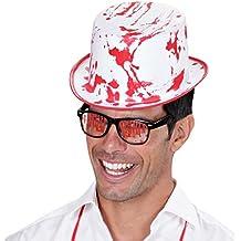 NET TOYS Sombrero de Copa Halloween ensangrentado Sombrero Zombie Gorro  Halloween Terror Gorra de Caballero enterrador 82648fc5b54