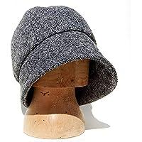 31f933f143120 ZUT hats - grey tweed cloche hat - ZUTmanon