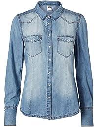 Vero Moda Jeanshemd Jeansbluse medium und light blue