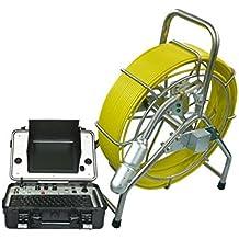 Resistente al agua de pan y Tilt cámara de alcantarillado tubería de robot línea Video Inspección Cámara CCTV equipo de inspección con 512hz transmisor