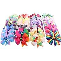 40pcs Lazos Multicolores de Pelo para Niñas Cozywind con Pinzas de Cocodrilo Clips de Pelo Horquillas Accesorios de Pelo, de Cinta de Grogrén