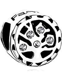 """Uniqueen–Abalorio de Árbol de la vida, con """"family"""" y """"Love"""", abalorios compatibles con Pulsera Pandora, para regalos"""