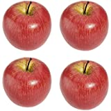 TOOGOO(R)4 grandes pommes rouges artificielles de fruits decoratifs