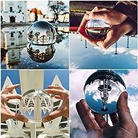 Lomire K9 Kristallkugel Künstliche Glaskugel Fotografenqualität Glas Ball Kugel Dekoration für Feng Shui Fotografie Büro Derokation (80mm)