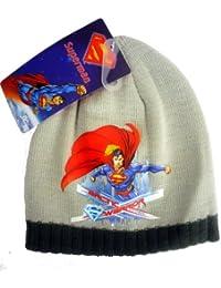 Offiziell lizensiertes ORIGINAL Superman Arctic Warriror Grau Beanie Mütze - lizensierter Superman DC Comics Fanartikel