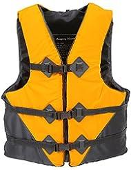 smartzyn (TM) Durable L-XXL tamaños poliéster adulto chaleco salvavidas universal agua Natación Canotaje esquí a la deriva chaleco de pesca con silbato, Yellow XXL