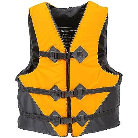 Trolux (TM) Jacket durevole L-XXL taglie poliestere per adulti Vita Universale acquatici Possibilit¨¤ di pesca nuotare battello alla deriva sci Vest con il fischio
