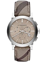 Burberry BU9361 Watch City Mens - Champagne Dial Stainless Steel Case Quartz Movement Stainless Steel-Smoke