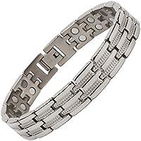 North South T23-Armband, poliertes Silber und Titan, zweireihig, Magnetverschluss, Gliederarmband mit Geschenkbox... preisvergleich bei billige-tabletten.eu