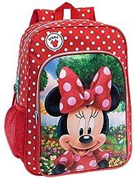 Disney 44223A1 Minnie Garden Mochila Escolar, 15.6 Litros, Color Rojo