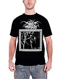 Darkthrone Herren T Shirt Schwarz Under A Funeral Moon band logo offiziell