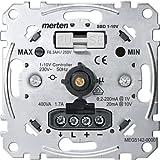 Merten MEG5142-0000 Variateur poussoir rotatif capacitive 1-10 V pour tubes fluos équipés de ballast électronique avec entrée 0/10V