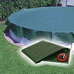 Piscina Cappuccio / Telo di copertura invernale con 180g/m² per ovale- e Piscina a forma di otto 737 x 360 cm