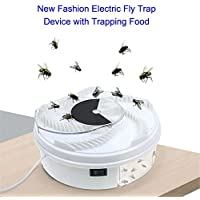 GESUNDHOME Electric Fly Trap Device with Trapping Food, Automatic Fly Catcher with USB Cable for Home Hotel Restaurant