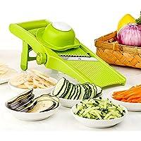 Mandoline Slicer - Cuchilla ajustable fino a grueso Configuración de rebanadas y julianas, cortador de vegetales, rallador y rebanador de verduras, patata, tomate, cebolla, queso