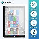 SmarTect® Microsoft Surface Pro 3 Protector Cristal Templado | Premium Protector de Pantalla | Gorilla glass con grado de dureza 9H | Lámina blindada - cristal protector de calidad contra rasguños