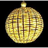 sunshine creation Cane Hanging Globe Shape Lamp Shade (8-inches, Brown)