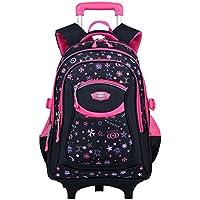 Trolley Rucksack, Coofit Schultrolley Schulrucksack Trolley Kinder Schulranzen Trolley Kinderkoffer Trolley Tasche für Mädchen Jungen