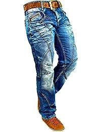 Cipo & Baxx Herren Jeans Denim Biker Streatwear Freizeit-hose Clubwear Bestseller Dicke Naht Streetwear Dope Swag