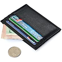 westeng 1pc negro hombres de Slim tarjeta de Crédito Titular Mini cartera ID caso bolso bolsa