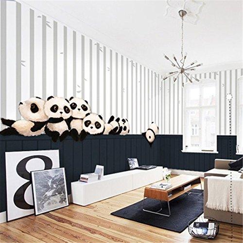 *Bre niedlichen panda cartoon tapete mural junge mädchen kind zimmer schlafzimmer hintergrund tapeten (1 * 1m2)*