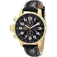 Invicta I-Force - 3330 Orologio da Polso, Cronografo, Uomo, Cinturino Pelle, Nero