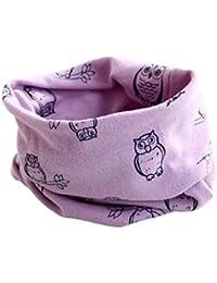 Bufandas de cuello de bebé,RETUROM nuevo diseño Otoño Invierno Niños Niñas búho impresión del collar del bebé de la bufanda del algodón del anillo o Pañuelos