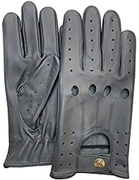Mens Classic Genuine Cow Nappa Leather Driving Motorbike Dress Fashion Gloves Pair 507 Elephant Grey