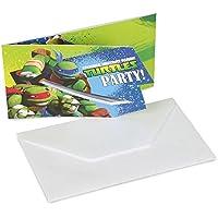 Amscan Teenage Mutant Ninja Turtles 6-Invite and Envelopes