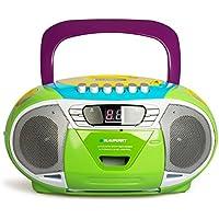 Blaupunkt B 11RD–Radio CD/MP3portátil con Reproductor de Casete (Pantalla LCD, retroiluminación, 2x 1W, sintonizador FM/Am)