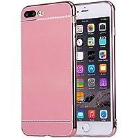 iphone 7 più caso, Krygershield® - di lusso in pelle morbida copertura del gel di cristallo flessibile con paraurti elettrolitico in rosa