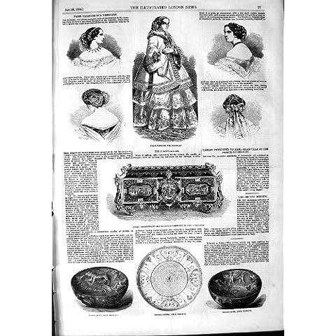 Cuenco 1854 de Patera del Bronce de la Moda de París Nimroud Granville [Cocina y Hogar]