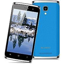 "Bluboo Mini - Smartphone libre Android 6.0 (3G, Pantalla 4.5"", 8GB ROM + 1GB RAM, Quad Core 1.3GHz, Dual SIM, Cámara 5.0MP, WiFi, GPS), Azul"