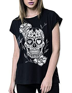 VIENTO Mexican Skull camiseta para Mujer