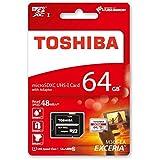 Toshiba Exceria M301 Carte mémoire microSDXC 64 Go (UHS-I, U1, Classe 10 - 2015 Version)