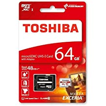 Toshiba M301 - Tarjeta de memoria micro SDHC de 64 GB, UHS-I