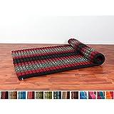 Tatami tai enrollable XL, 200x105x5 cm, Capok, Negro Rojo