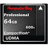 Komputerbay 64GB COMPACT FLASH CARD Professionelle CF 600X 90MB/s Extreme Speed ​​UDMA 6 RAW 64 GB