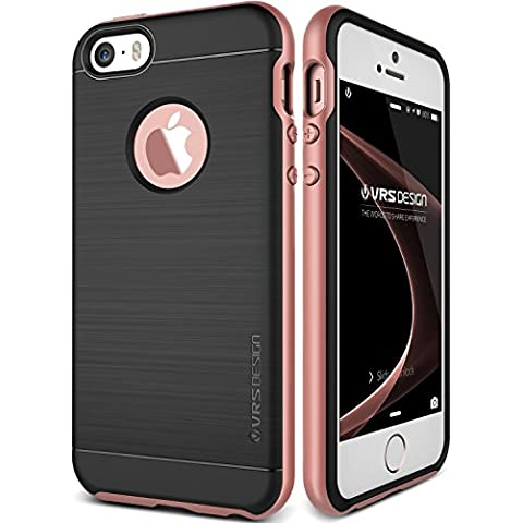Funda iPhone SE, VRS Design [High Pro Shield][Oro Rosa] - [Shock- Absorción case][Resistente a los arañazos cover][protección] - Para Apple iPhone