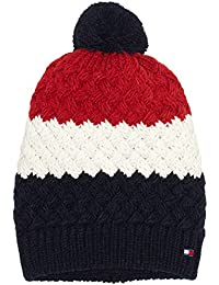 Tommy Hilfiger Herren Strickmütze Chunky Bobble Beanie Mehrfarbig (Corporate Clrs 901), One Size
