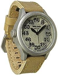 Welder K20-501 - Reloj para hombres, correa de cuero color beige