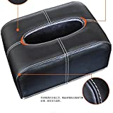 PENG boîte de tissu style siège auto en cuir fournitures intérieur voiture plateau de pompage de voiture fixe couvercle de la boîte de tissu créatif