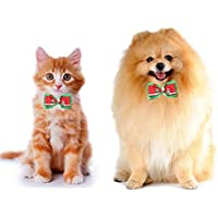 easyshop Regolabile natale pet cane gatto papillon cravatta albero di natale collare dell'animale domestico decorazione